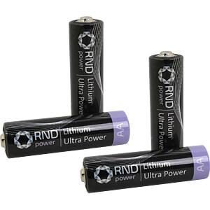 Lithium Batterie, AA (Mignon), 2800 mAh, 4er-Pack RND POWER RND 305-00010