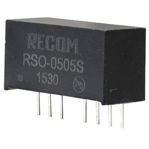 DC/DC, 1 W, 5 V, 200 mA, Single RECOM 10002208