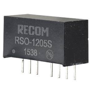 DC/DC, 1 W, 5 V, 200 mA, Single RECOM 10002251