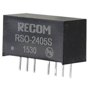DC/DC, 1 W, 5 V, 200 mA, Single RECOM 10002236