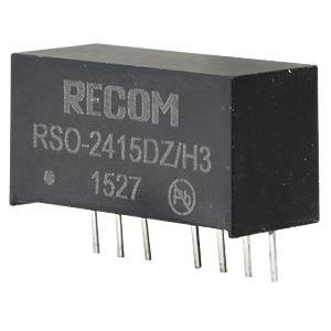 DC/DC-Wandler RSO, 1 W, 15 V, 34 mA, SIL-8, Dual RECOM 10012625