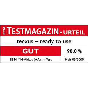 TECXUS Ready-To-Use Akkus, 4xMignon, 2300mAh TECXUS 23820