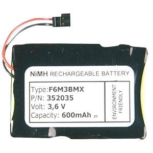 Cordless phone battery, NiMh, 3.6 V/3.7 V, 500 mAh FREI