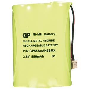Cordless phone battery, NiMh, 3.6 V, 700 mAh FREI