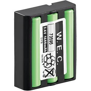 Cordless phone battery, NiMh, 3.6 V, 1,300 mAh FREI