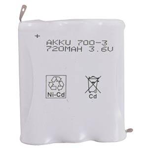 NiMh Mignon-Pack, 3,6V, 1100mAh FREI