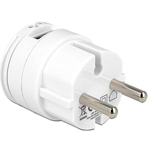USB adapter, 110-230V AC, 2xUSB, white NAVILOCK 62516