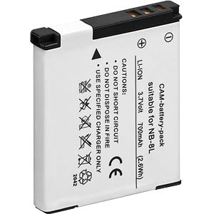 Li-ion camcorder battery 3.7V 700mAh, for Canon FREI