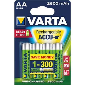 VARTA Ready-To-Use Mignon Akku, 2500mAh, 4er VARTA 5716 301 404