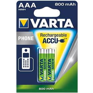 VARTA PhonePower Micro Akku, 800mAh, 2er VARTA 58398 101 402