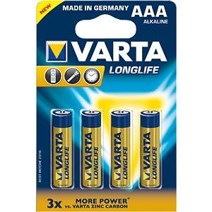 VARTA Longlife Extra, LR3, 4er-Pack VARTA 4103