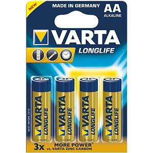 VARTA Longlife Extra, LR6, 4er-Pack VARTA 4106