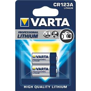 Lithium Batterie, CR123A, 1480 mAh, 2er-Pack VARTA 6205301402
