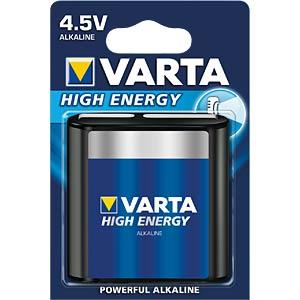 VARTA High Energy, alkalinebatterij, 4,5 V-blok VARTA 4912121411