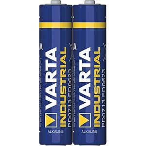 Industrial, Alkaline Batterie, AAA (Micro), 2er-Pack VARTA 4003211302
