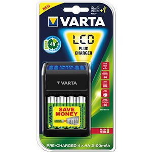 Varta plug-in charger with LCD and USB VARTA 57677 101 441