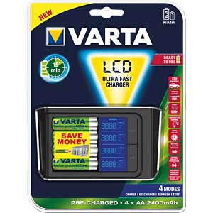 Varta ultra fast charger with LCD VARTA 57675 101 441