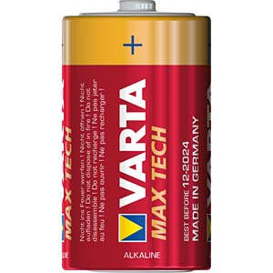 MaxiTech, Alkaline Batterie, D (Mono), 2er-Pack VARTA 4720101402