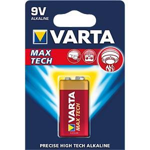 MaxiTech, Alkaline Batterie, 9-V-Block, 1er-Pack VARTA 4722101401