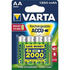 VARTA Ready-2-Use, 4x Mignon, 1350 mAh VARTA 56746101404