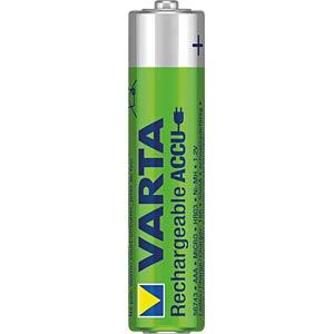 NiMh Akku, AAA (Micro), 550 mAh, 4er-Pack VARTA 56743101404
