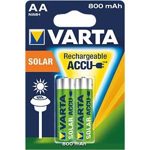 Solar, NiMh Akku, AA (Mignon), 800 mAh, 2er-Pack VARTA 56736101402