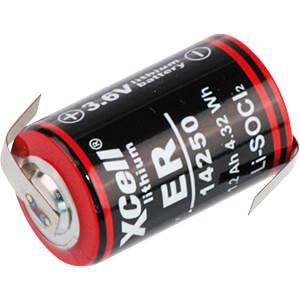 Lithium Batterie, 1/2 AA, 1200 mAh, Z-Fahne, 1er-Pack XCELL ER14250
