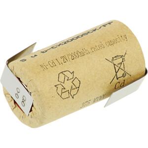 Sub-C-batterij, NiCd, 1,2 V, 2000 mAh, Z-soldeertabs XCELL 135385