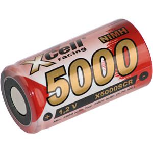 Sub-C-accu, NiMh, 1,2 V, 5000 mAh, Flat Top XCELL 137691