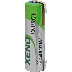 Lithium Batterie, AA (Mignon), 2400 mAh, U-Fahne, 1er-Pack XENO XL-060F-T1