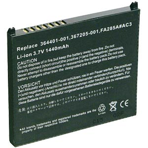 PDA battery for Compaq iPAQ FREI