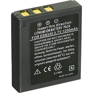 Li-ion camcorder battery 3.7V 1000mAh, for Medion FREI