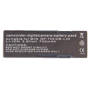 Li-ion camcorder battery 3.7V 650mAh, for Minolta FREI