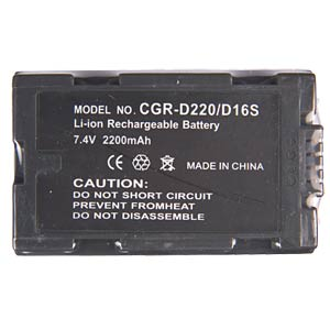 Li-ion camcorder battery 7.2-7.4V 2200mAh, for Panas. FREI