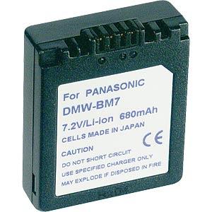 Li-ion camcorder battery 7.4V 600mAh, Panasonic FREI