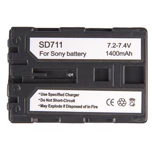Li-ion camcorder battery 7.4V 1300mAh, for Sony FREI