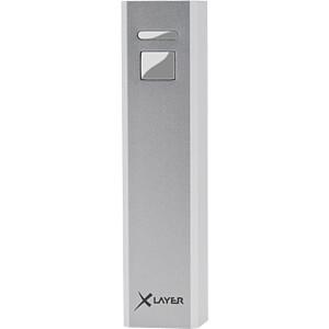 Powerbank, Li-Ion, 2600 mAh, USB, zilver XLAYER