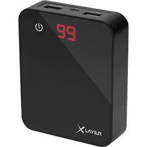 Powerbank, Li-Ion, 10000 mAh, USB, zwart XLAYER