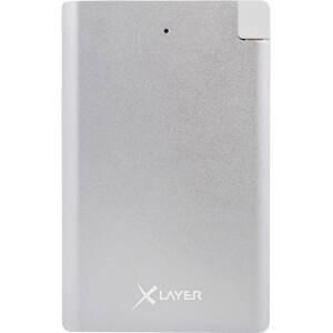 Powerbank, Li-Ion, 2500 mAh, USB, geïntegreerde oplaadkabel XLAYER