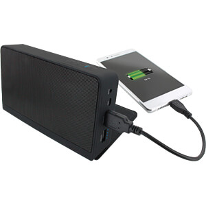 Powerbank, Li-Ion, 5000 mAh, USB met luidspreker XLAYER