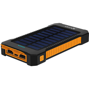 Powerbank, Li-Ion, 8000 mAh, USB, solar XLAYER