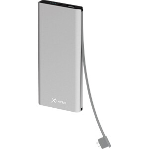 Powerbank, Li-Ion, 10000 mAh, USB, Schnellladefunktion XLAYER