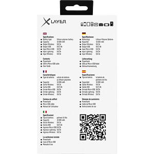Powerbank, Li-Ion, 10000 mAh, USB, QI-Charge XLAYER 211962