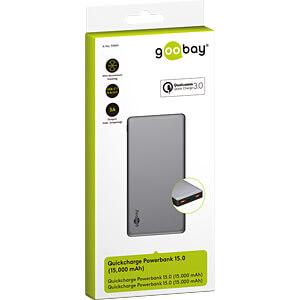 Powerbank, Li-Po, 15,000 mAh, USB-C GOOBAY 59819