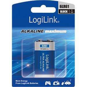 Bateria alkaliczna, blokowa 9 V, 1 szt. LOGILINK 6LR61B1