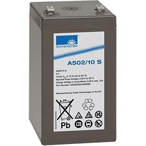 Lead-acid rechargeable battery, 2volt, 10Ah, 52.9x50.5x94.5mm SONNENSCHEIN A502/10 S