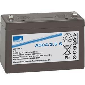 Lead-acid rechargeable battery, 4volt, 3.5Ah, 90.5x34.5x60.5m SONNENSCHEIN A504/3,5 S