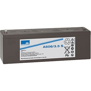 Lead-acid rechargeable battery, 6 volt, 3.5 Ah, 134.0x34.7x60.5  SONNENSCHEIN A506/3,5 S