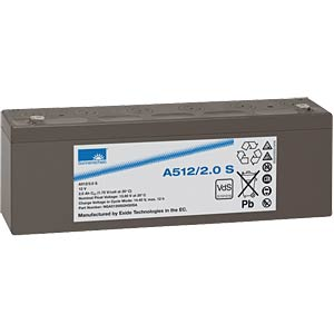 Lead-acid rechargeable battery, 12 volt, 2.0 Ah, 178.0x34.1x60.5 SONNENSCHEIN A512/2 S