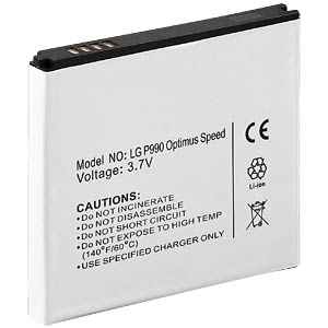 1400mAh, Li-Ion für LG P990 Optimus Speed FREI